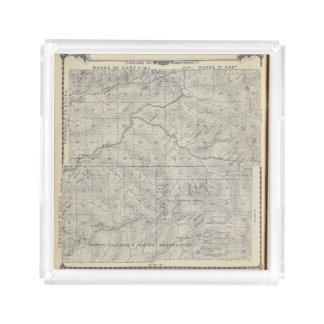 Mapa de la sección de T2021S R3031E el condado de Bandeja Cuadrada