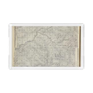 Mapa de la sección de T2021S R3031E el condado de Bandeja Rectangular