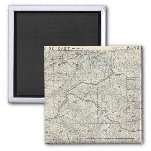 Mapa de la sección de T2021S R3031E el condado de  Imán Cuadrado