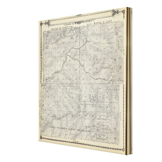 Mapa de la sección de T2021S R3031E el condado de  Lienzo Envuelto Para Galerias