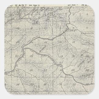 Mapa de la sección de T2021S R3031E el condado de Pegatina Cuadrada