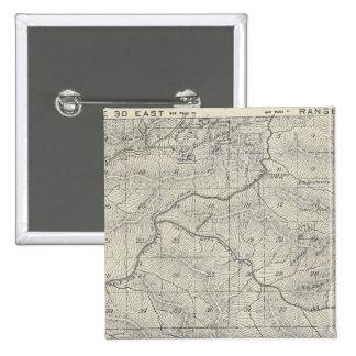 Mapa de la sección de T2021S R3031E el condado de  Pin Cuadrado