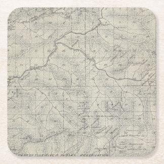 Mapa de la sección de T2021S R3031E el condado de Posavasos Personalizable Cuadrado