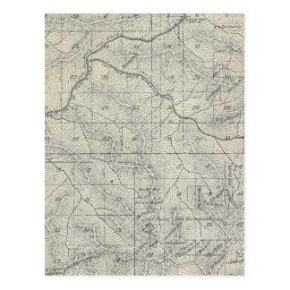 Mapa de la sección de T2021S R3031E el condado de Postales