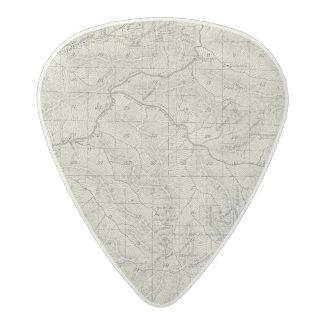 Mapa de la sección de T2021S R3031E el condado de Púa De Guitarra Acetal