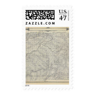 Mapa de la sección de T2021S R3031E el condado de Timbre Postal