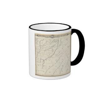 Mapa de la sección de T20S R22E el condado de Tula Tazas De Café