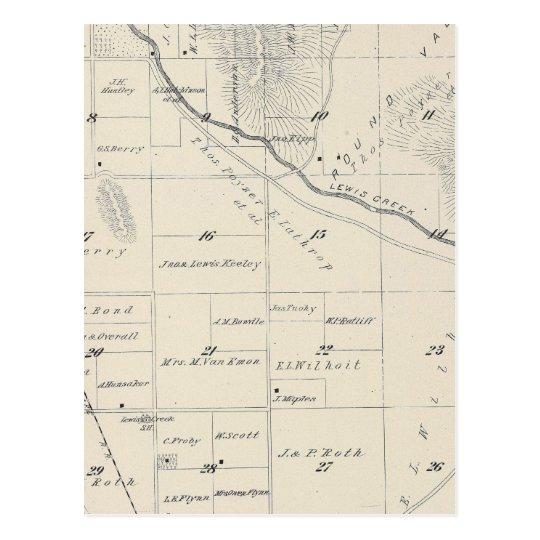 Mapa de la sección de T20S R27E el condado de Postal