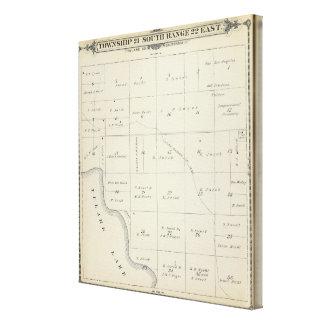 Mapa de la sección de T21S R22E el condado de Tula Impresiones En Lona