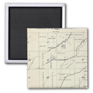 Mapa de la sección de T21S R23E el condado de Tula Imán Cuadrado