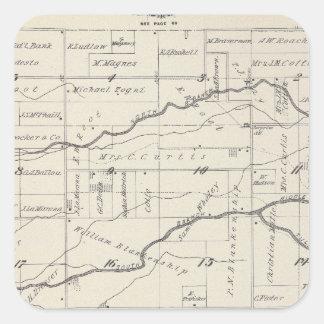 Mapa de la sección de T21S R25E el condado de Pegatina Cuadrada