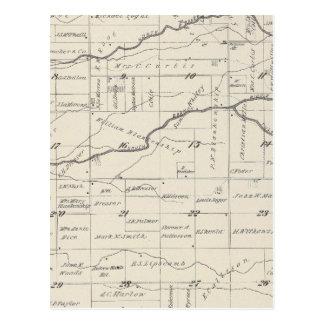 Mapa de la sección de T21S R25E el condado de Tarjetas Postales