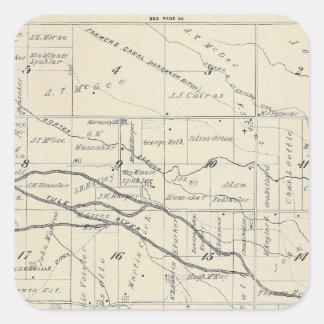 Mapa de la sección de T21S R26E el condado de Pegatina Cuadrada