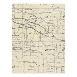 Mapa de la sección de T21S R26E el condado de Tarjeta Postal