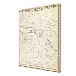 Mapa de la sección de T21S R26E el condado de Tula Impresiones En Lienzo Estiradas