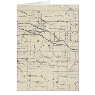 Mapa de la sección de T21S R26E el condado de Tula Tarjeta De Felicitación