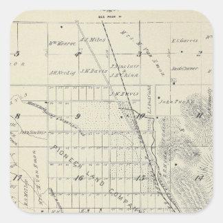 Mapa de la sección de T21S R27E el condado de Pegatina Cuadrada