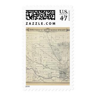 Mapa de la sección de T21S R27E el condado de Timbre Postal