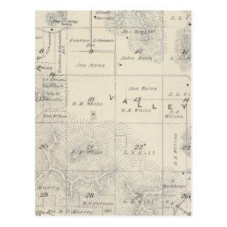 Mapa de la sección de T21S R28E el condado de Postales