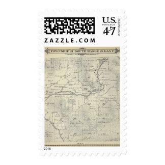 Mapa de la sección de T21S R29E el condado de Sello Postal