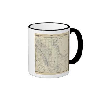 Mapa de la sección de T2223S R1819E el condado de  Tazas De Café