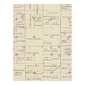 Mapa de la sección de T22S R24E el condado de Tarjetas Postales