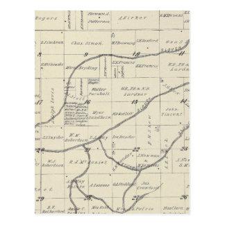Mapa de la sección de T22S R25E el condado de Postales