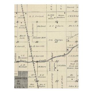 Mapa de la sección de T23S R25E el condado de Tarjetas Postales