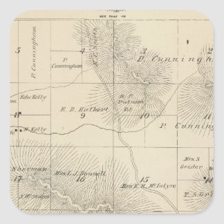 Mapa de la sección de T23S R28E el condado de Pegatina Cuadrada