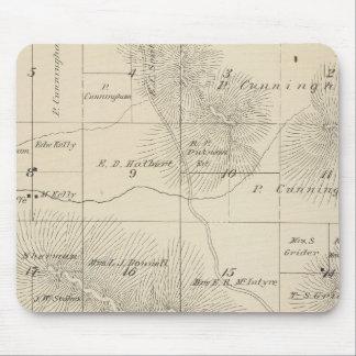Mapa de la sección de T23S R28E el condado de Tula Alfombrilla De Ratones
