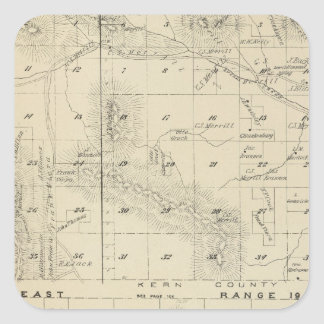 Mapa de la sección de T24S R1619E el condado de Pegatina Cuadrada
