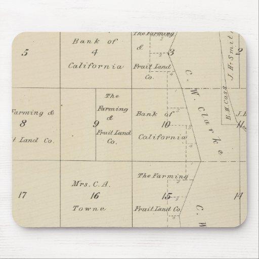 Mapa de la sección de T24S R20E el condado de Tula Alfombrillas De Ratones