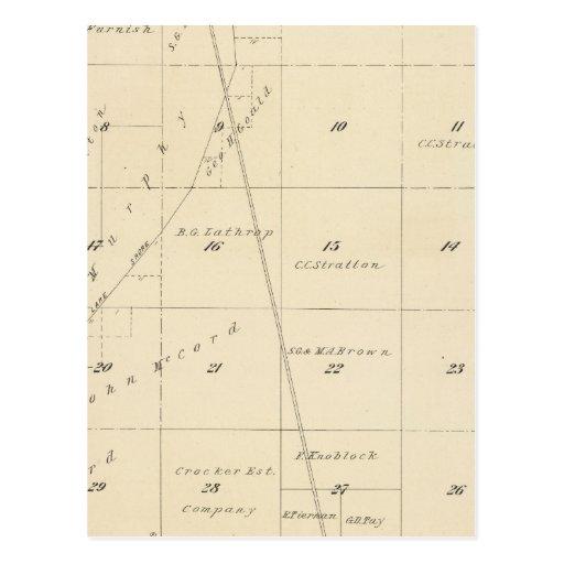 Mapa de la sección de T24S R24E el condado de Tula Tarjetas Postales