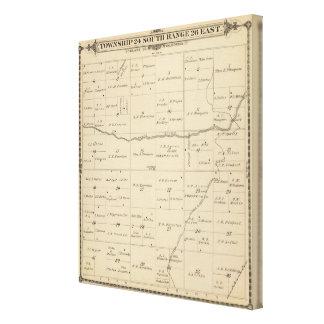Mapa de la sección de T24S R26E el condado de Tula Impresiones En Lona