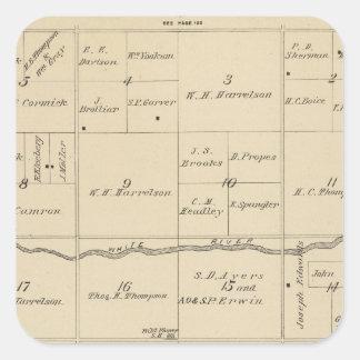 Mapa de la sección de T24S R26E el condado de Tula Etiqueta