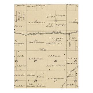 Mapa de la sección de T24S R26E el condado de Tula Postales