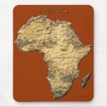 Mapa de la serie de ÁFRICA Tapetes De Ratón