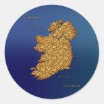Mapa de la serie del pegatina de IRLANDA