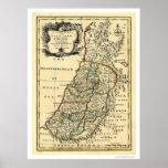 Mapa de la Tierra Santa de Israel de Bowen 1752 Posters