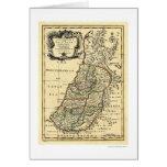 Mapa de la Tierra Santa de Israel de Bowen 1752 Felicitación