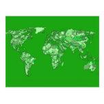 Mapa de la tierra verde postal