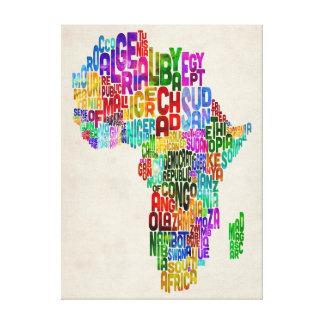 Mapa de la tipografía de África Lona Estirada Galerías