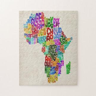 Mapa de la tipografía de África Puzzles