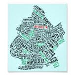 Mapa de la tipografía de Brooklyn NYC Fotos