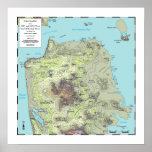 Mapa de la topografía de San Francisco (2013) Poster