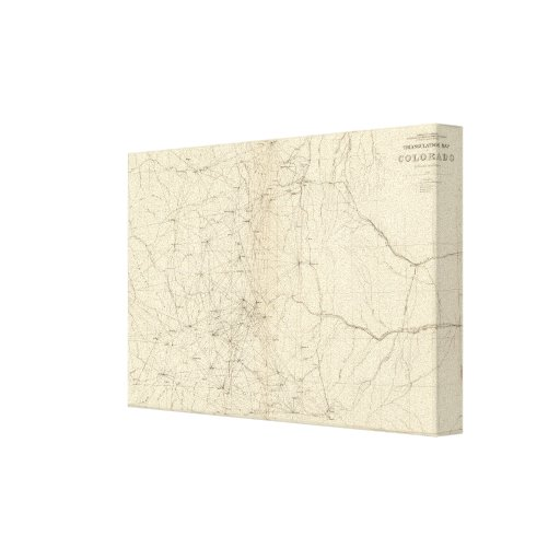Mapa de la triangulación de Colorado Impresion De Lienzo