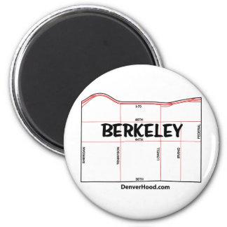 Mapa de la vecindad de Berkeley - Denver, CO Imán Redondo 5 Cm