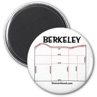 Mapa de la vecindad de Berkeley Imán Redondo 5 Cm