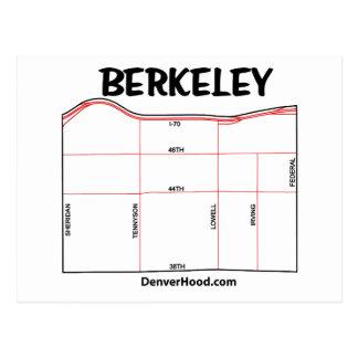 Mapa de la vecindad de Berkeley Tarjeta Postal