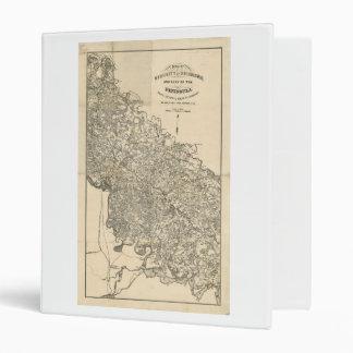"Mapa de la vecindad de Richmond Virginia (1864) Carpeta 1"""